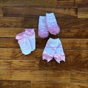 Never Worn Mudpie Ballerina Sock Set